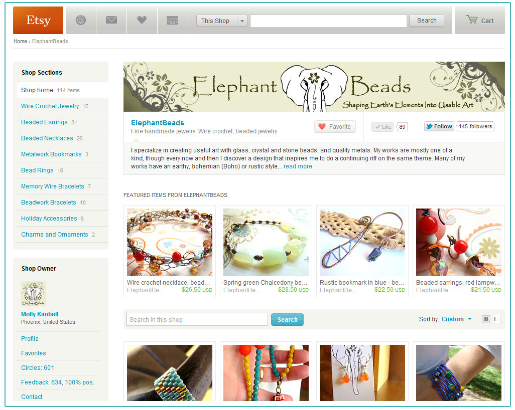 Musts when opening an etsy shop part 2 dteam blog for Homepage shop