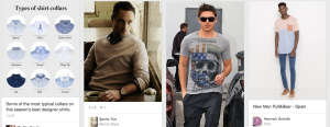 Screen Shot of Men's Fashion on Pinterest