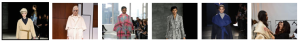 Screen shot of robe coats at New York Fashion Week