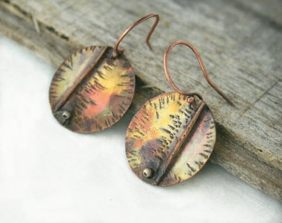 JudysDesigns Fold Formed Metalwork Earrings