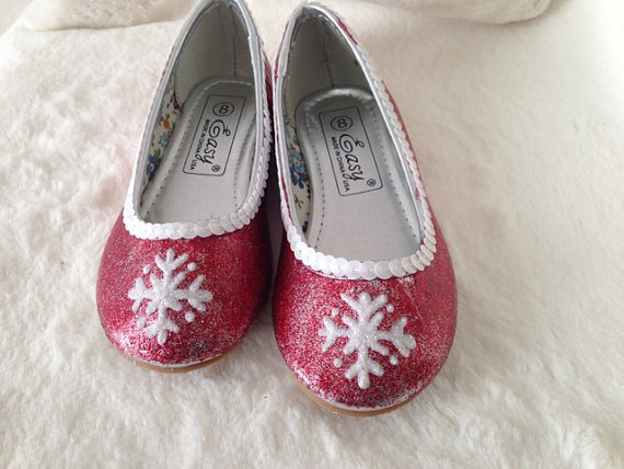 snowflake sparkle shoes