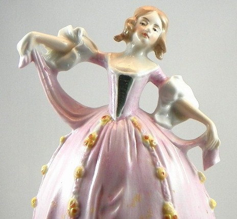 Vintage German Lady Figure Lamp Base 1920s